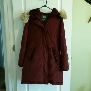 Vince Camuto long car coat with removable fur.